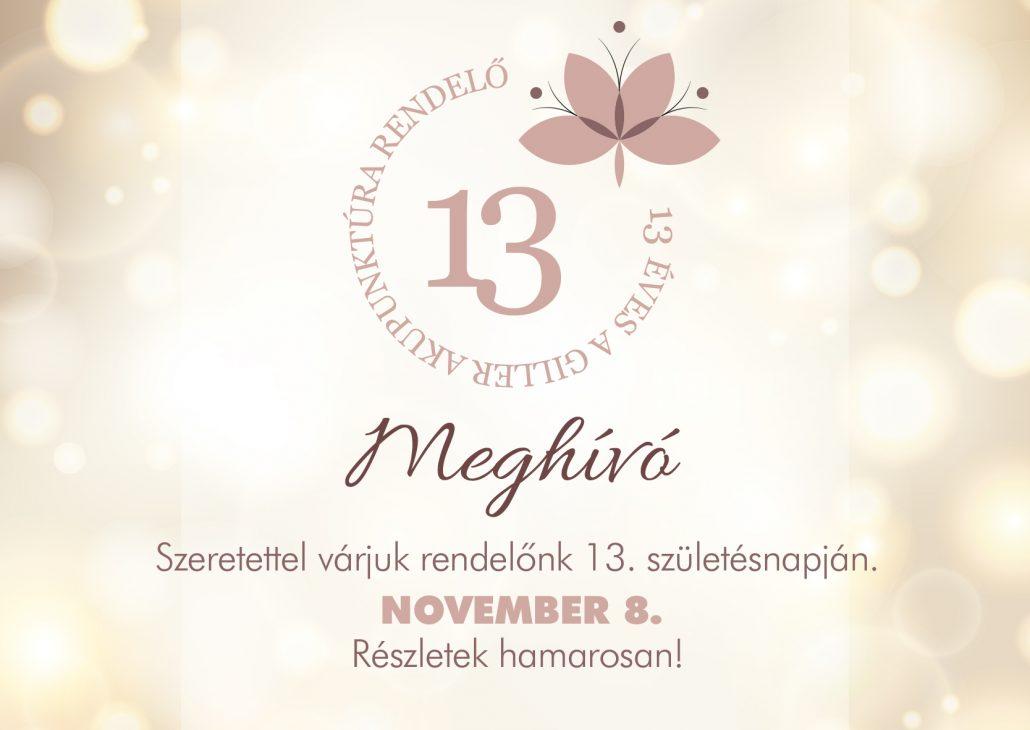 13 születésnap meghívó